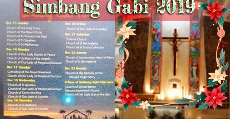 Simbang Gabi Schedule in Singapore 2019