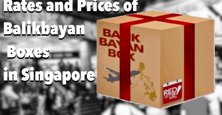 Rates and Prices of Balikbayan boxes in Singapore
